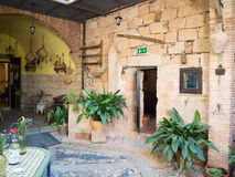 Interior patio in a Andalusian village in Spain royalty free stock images