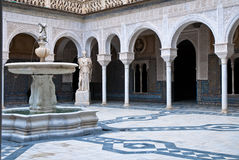 The interior patio of Casa de Pilat, Seville. Casa de Pilatos (Pilate's House) an Andalusian  palace in Seville, Spain Royalty Free Stock Images