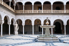 The interior patio of Casa de Pilat, Seville Stock Images