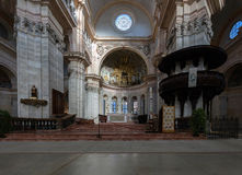 Interior of the Pavia's Cathedral stock images