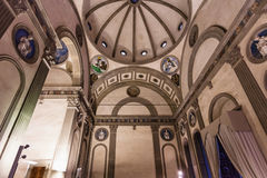 Interior Pazzi chapel in Basilica di Santa Croce Royalty Free Stock Photography