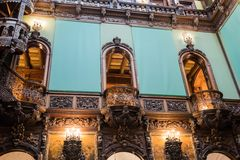 The interior of the Peles castle in Sinaia, in RomaniaThe interior of the Peles castle in Sinaia, in Romania Royalty Free Stock Images