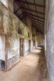 Abandoned Prison in Salvation`s Islands, French Guiana. Interior of a penal colony at Ile Royale, one of the islands of Iles du Salut Islands of Salvation in Royalty Free Stock Photography