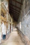 Abandoned Prison in Salvation`s Islands, French Guiana. Interior of a penal colony at Ile Royale, one of the islands of Iles du Salut Islands of Salvation in Stock Photos