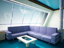 Interior of the penthouse Stock Photos