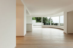 Interior, penthouse totally empty Royalty Free Stock Photo