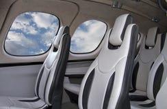 Interior pessoal dos aviões de jato Foto de Stock Royalty Free