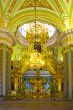 Interior of Peter and Paul cathedral Royalty Free Stock Photos