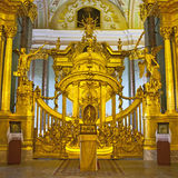 Interior of Peter and Paul cathedral in St. Petersburg Stock Photography