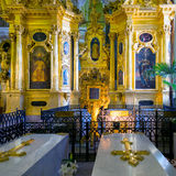 Interior of the Peter and Paul Cathedral in St. Petersburg Stock Photo