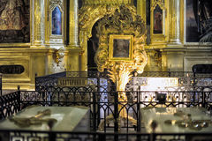 Interior of the Peter and Paul Cathedral in St. Petersburg Stock Images