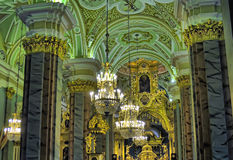 Interior of the Peter and Paul Cathedral in St. Petersburg Royalty Free Stock Photo