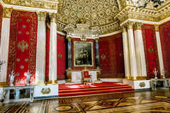 Interior of Peter's hall in the Hermitage Museum in St. Petersbu Stock Images