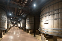 Interior photo of old winery Stock Image