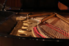 Interior of a piano Royalty Free Stock Images