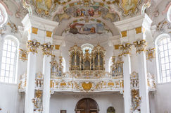 Interior of Pilgrimage Church Germany Stock Photography