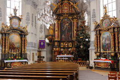Interior of pilgrimage church Stock Image