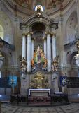 Interior of Pilgrimage Church of the Name of Virgin Mary Stock Photo