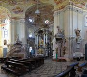 Interior of Pilgrimage Church of the Name of Virgin Mary Stock Photos