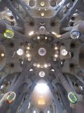 interior-pillars-of-sagrada Stock Image