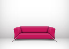 Interior with pink sofa Stock Photography