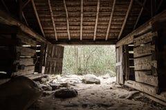 Interior Of Pioneer Barn Stock Photo