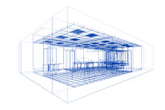 Interior plan on white Royalty Free Stock Photography