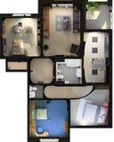Interior plano moderno Imagenes de archivo