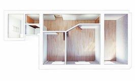Interior plano moderno libre illustration