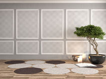 Interior with plant. 3d illustration Stock Images