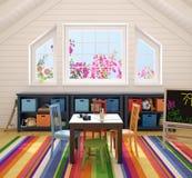 Interior of playroom. Royalty Free Stock Photo