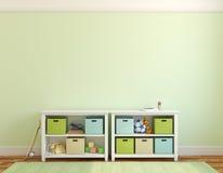 Interior of playroom. vector illustration