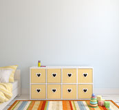 Interior of playroom. 3d render. Royalty Free Stock Photography