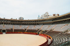 Interior of the Plaza del Toros, a bullfighting arena Stock Photos