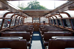 Interior of  pleasure boat Royalty Free Stock Photography