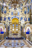 Interior of Pochaiv monastery - Ukraine Stock Photo