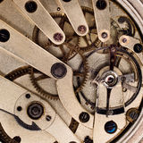 The interior of a pocket watch. Royalty Free Stock Photos
