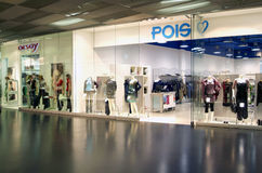 Interior of Pois fashion clothes store Royalty Free Stock Photos
