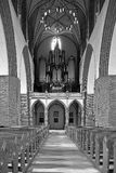 The interior of Polish church. Royalty Free Stock Photos
