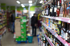 Interior of Polish supermarket in Barcelona. Stock Images