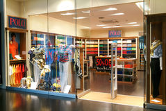 Interior of Polo fashion clothes store Royalty Free Stock Photography