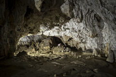 Interior of Polovragi cave, Romania Royalty Free Stock Photos