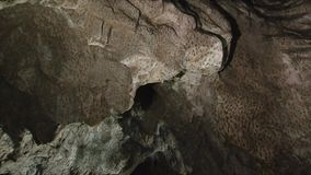Interior of Polovragi cave, Romania stock footage