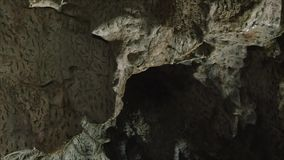 Interior of Polovragi cave, Romania stock video