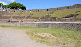Interior of the Pompeian Amphitheatre Stock Images