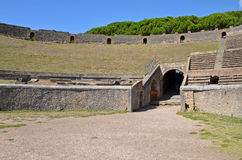 Interior of the Pompeian Amphitheatre Royalty Free Stock Photos