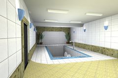 Interior with pool Royalty Free Stock Images