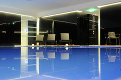 Interior Pool and Candles Stock Photo