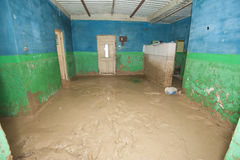 Interior of poor African house following flooding disaster Royalty Free Stock Images