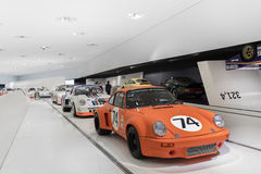Interior of Porsche Museum Racecars Stock Photos